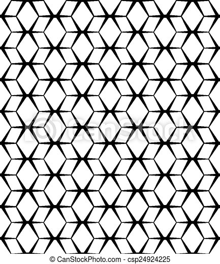 model, abstract, seamless, achtergrond., vector, black , witte  - csp24924225