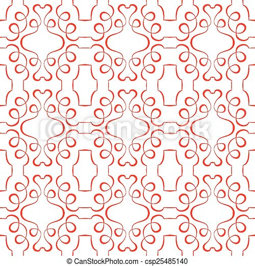 model, behang, seamless, achtergrond., vector, wit rood - csp25485140