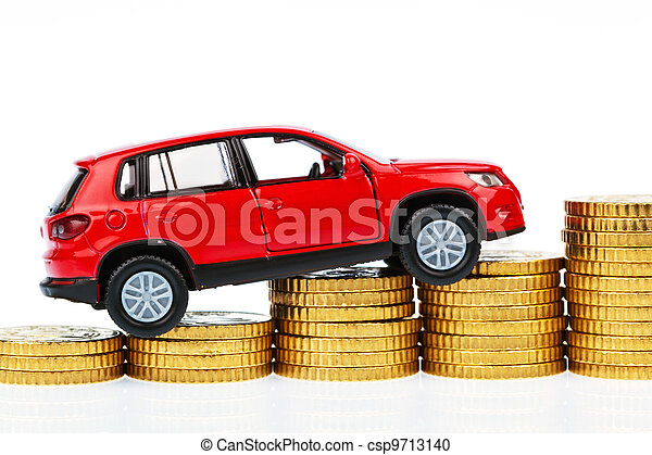 model car and coins. car costs - csp9713140