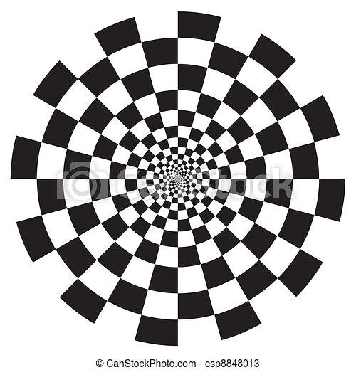 model, checkerboard, ontwerp, spiraal - csp8848013