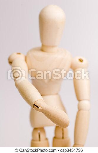 Model Figurine Extending Handshake - csp3451736
