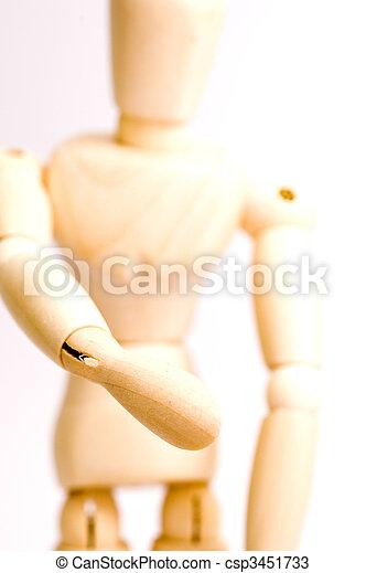 Model Figurine Extending Handshake - csp3451733