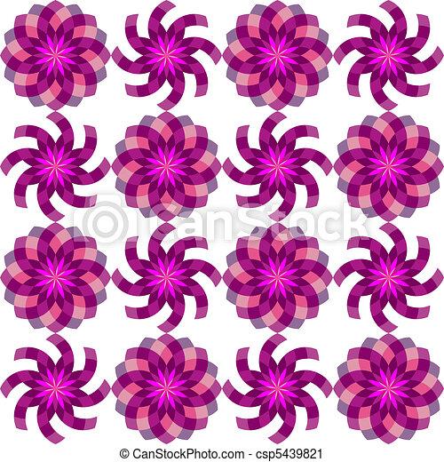 model, geometrisch, bloemen, seamless - csp5439821