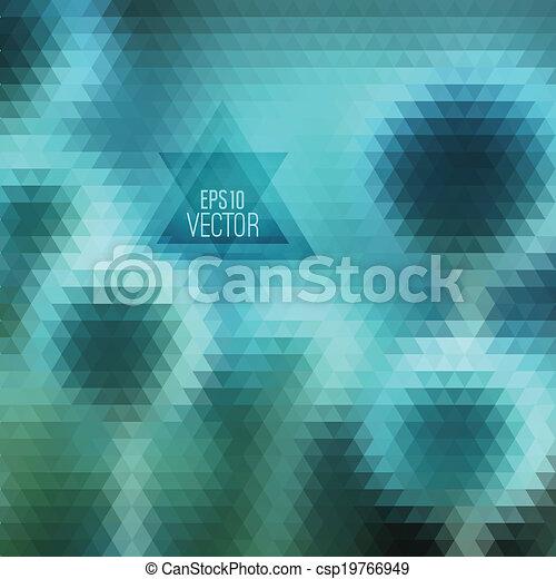 model, geometrisch, shapes., retro - csp19766949