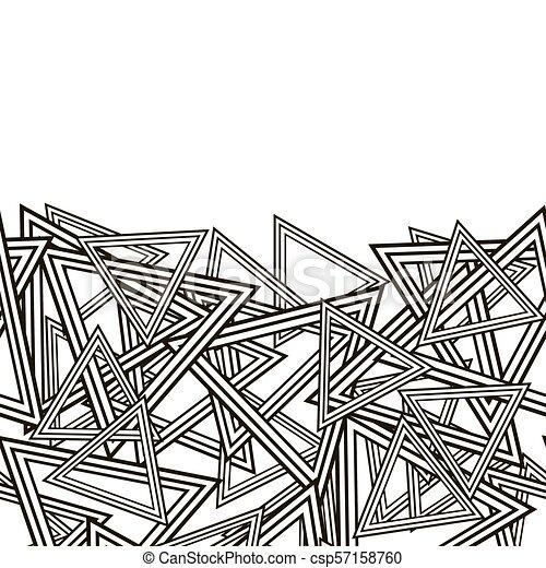 model, gestreepte , driehoeken - csp57158760