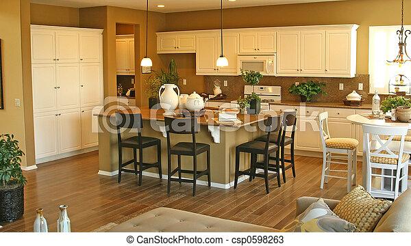 Model Home Interiors   Csp0598263