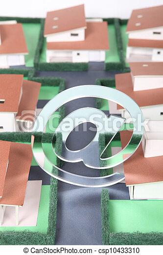 Model housing development - csp10433310