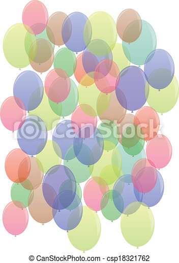 model, many-colored, ballons, seamless - csp18321762