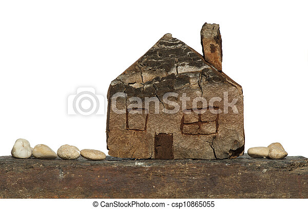 Model of a small wooden house - csp10865055