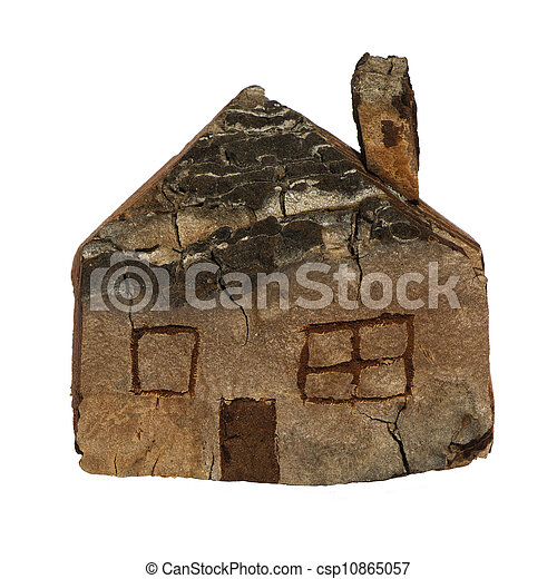 Model of a small wooden house - csp10865057