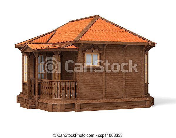 Model of a wooden house - csp11883333