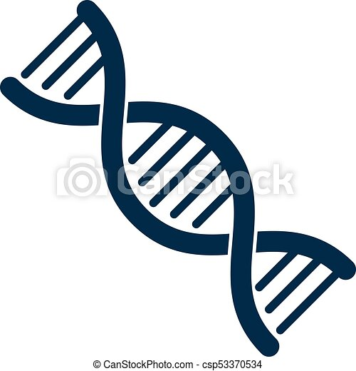 model of human dna double helix vector illustration vectors rh canstockphoto com dna clipart outline dna clipart borders