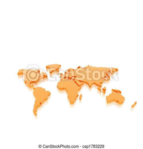 model of the geographical world map - csp1783229