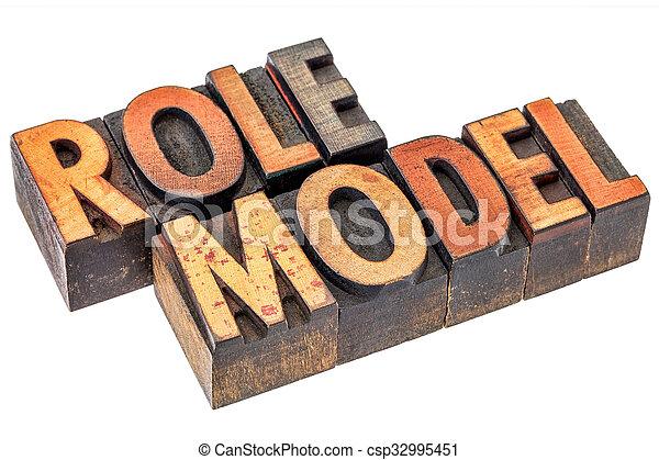 model, rol, typografie - csp32995451