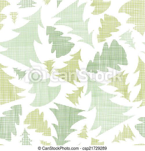 model, seamless, bomen, textiel, silhouettes, groene achtergrond, kerstmis - csp21729289