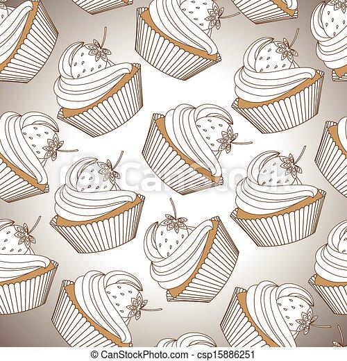 model, seamless, cupcake - csp15886251