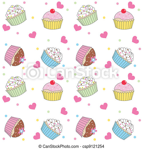 model, seamless, cupcake - csp9121254