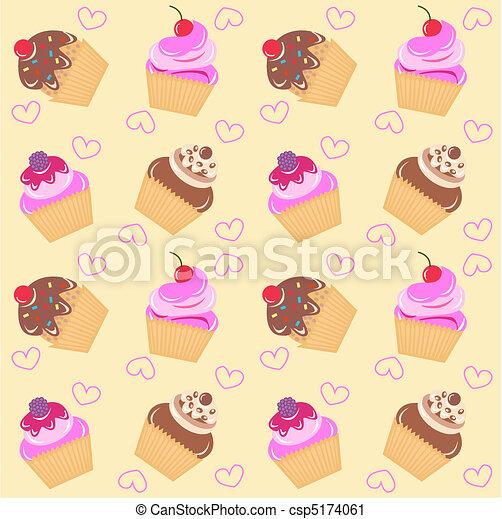 model, seamless, cupcake - csp5174061
