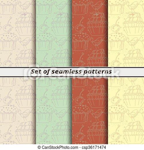 model, set, lineair, seamless - csp36171474