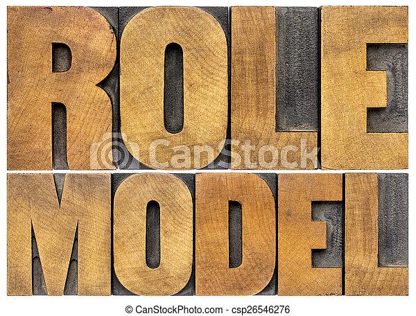model, typografie, rol - csp26546276