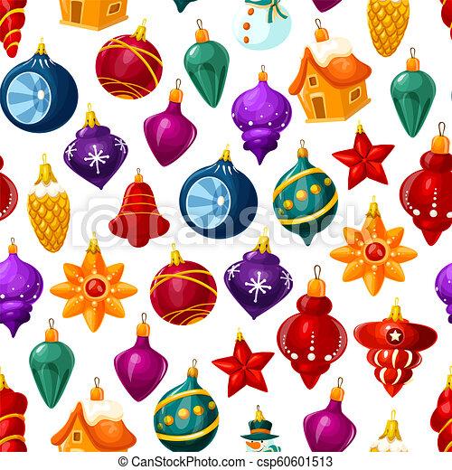 model, vector, kerst decoraties, seamless - csp60601513