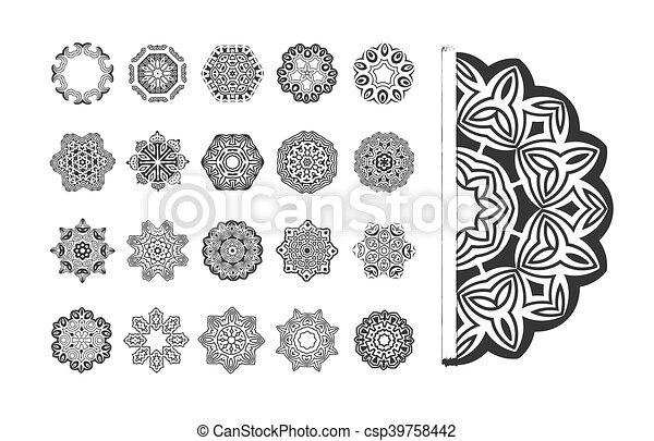 model, vector, set, circulaire - csp39758442