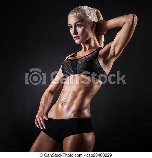 modell, fitness - csp23408229