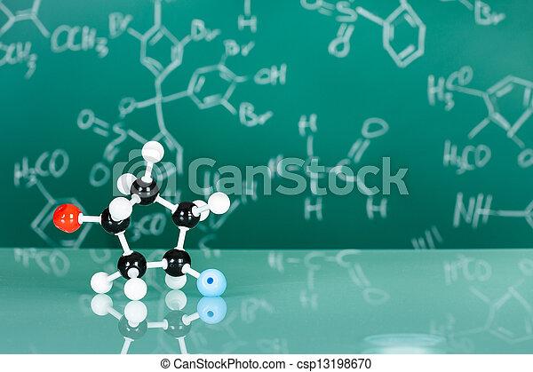 modell, molekulare struktur - csp13198670