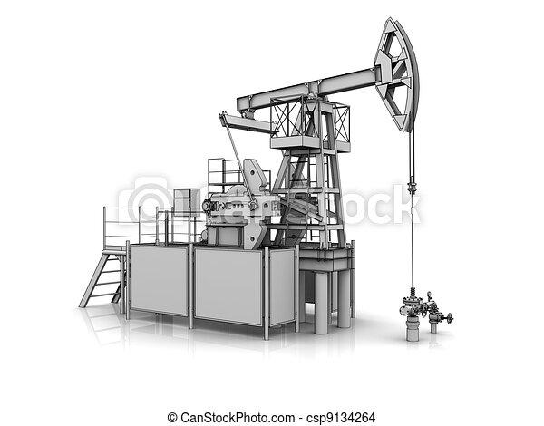 3D-Modell der Ölpumpe - csp9134264
