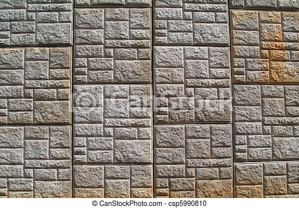 modellato, concreto, muro sostegno - csp5990810