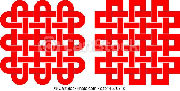 modello, annodato, quadrato - csp14570718