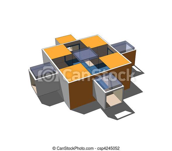 Modello architettura 3d module museo tipico mio for Architettura 3d