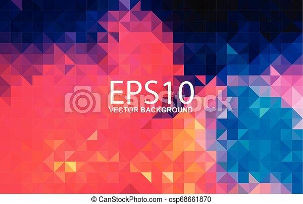 modello, astratto, colorito, geometrico, fondo - csp68661870