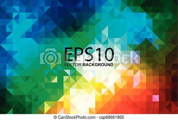 modello, astratto, colorito, geometrico, fondo - csp68661865