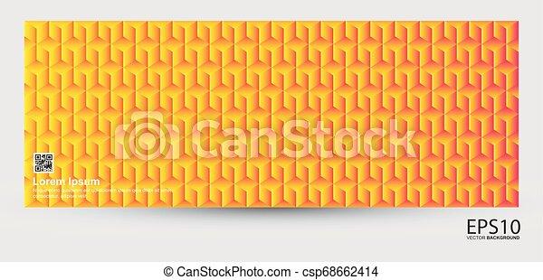 modello, astratto, colorito, geometrico, fondo - csp68662414