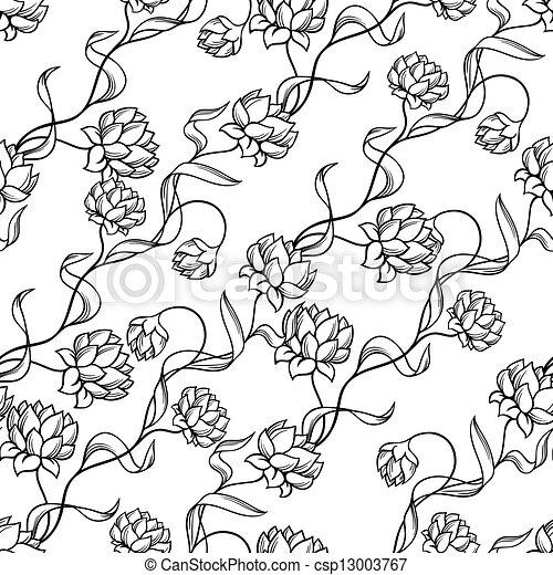 modello, astratto, flowers., seamless - csp13003767