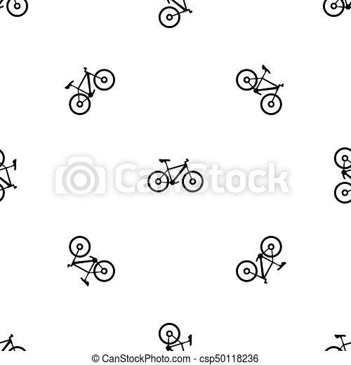 modello, bicicletta, nero, seamless - csp50118236
