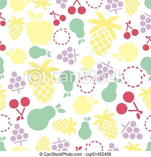 modello, colorito, seamless, fondo, fruity - csp51452458