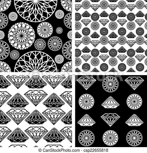 modello, diamante, seamless - csp22655818