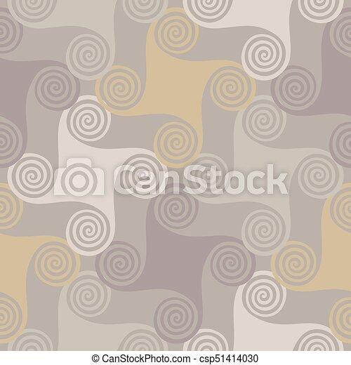 modello, elementi, seamless, colorito, spirale - csp51414030