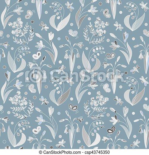 modello, fiori, seamless, primavera - csp43745350