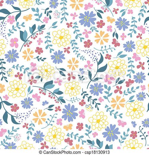 modello, flowers., seamless, primavera - csp18130913