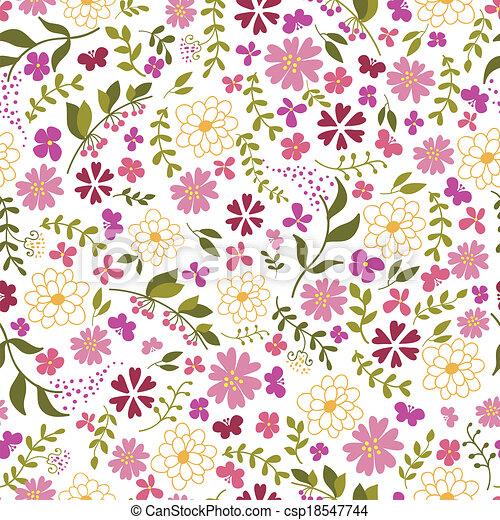 modello, flowers., seamless, primavera - csp18547744