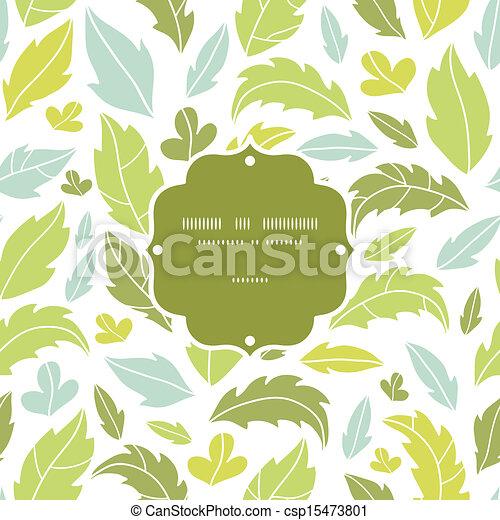 modello, foglie, seamless, silhouette, fondo, cornice - csp15473801