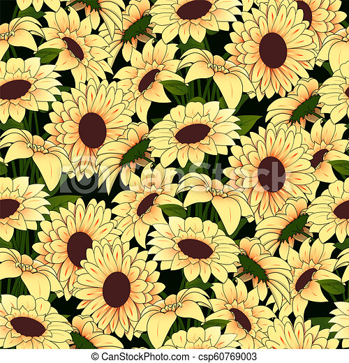 Wallpaper Fiori Gialli.Modello Giallo Vaso Sfondo Scuro Fiori Wallpaper Chamomile