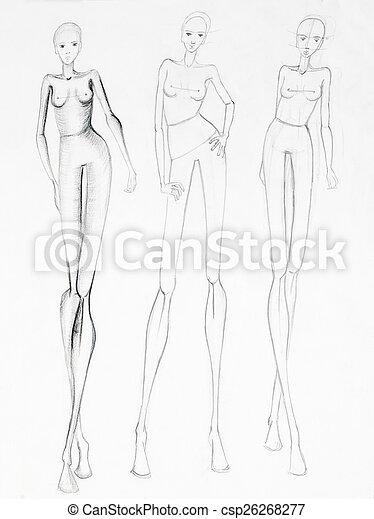 Modello nudo pista