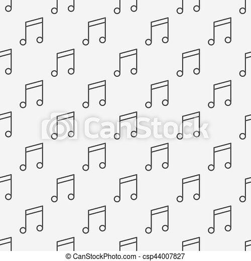 modello, note, musica - csp44007827