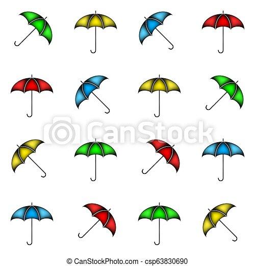 modello, ombrelli, fondo, seamless, colorito - csp63830690