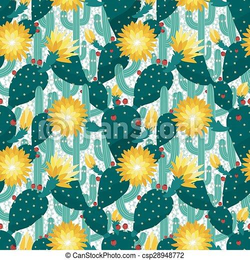 modello, seamless, cactus - csp28948772