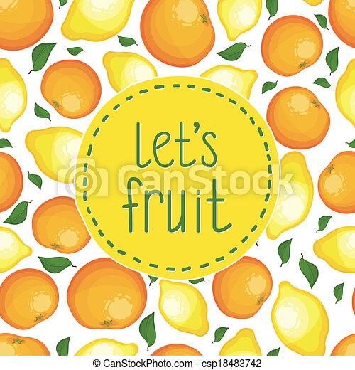 modello, seamless, limoni, oranges. - csp18483742